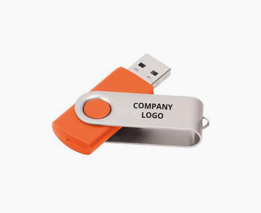 logoed flash drive