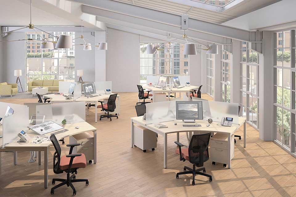 Office Space With Natural Light Coming In