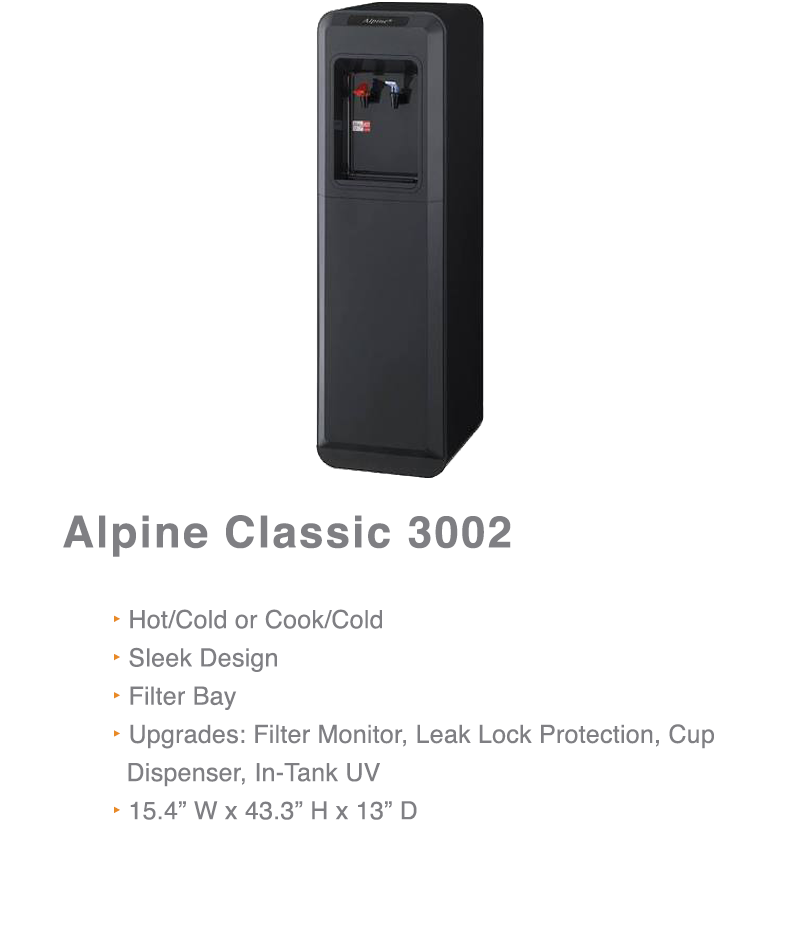 Alpine Classic Water Cooler