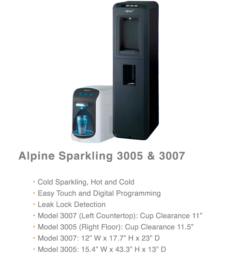 Alpine Sparkling Water Coolers